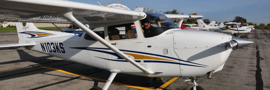 Kent State University Airplane Airport Online Bachelor Science Aviation Management
